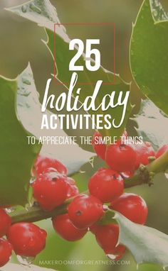 25 Simple & Free Holiday Activities to help you appreciate the simple things - family activities, being together, christmas life idea Christmas Time Is Here, Family Christmas, Christmas And New Year, Winter Christmas, All Things Christmas, Christmas Ideas, New Year Holidays, Winter Holidays, Christmas Activities