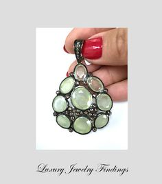 Peridot and Diamond Pendant, Gift Ideas for Women,  Opal Pendant Necklace, Pendant Jewelry in Craft Supplies, Pendant Charms, Luxury Jewelry by LuxuryJewelryFinding on Etsy