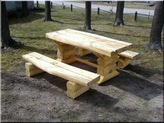 rusztikus bútor Rustic Wood Furniture, Picnic Table, Pergola, Entrance Ideas, Woodworking, Home Decor, Rustic Bench, Rustic Wood, Banks