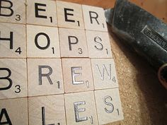 This is SUCH cute idea! You can make words you want out of these scrabble coasters! I'm definitely stealing the beer and wine ideas :)