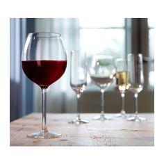 HEDERLIG Rotweinglas, Klarglas