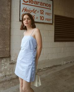 Blue dress, 1 of Reese Blutstein Minimal Outfit, Minimal Fashion, 90s Fashion, Fashion Outfits, Designer Dresses, Vintage Outfits, Cute Outfits, Street Style, Style Inspiration
