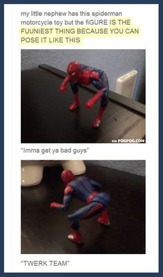 Twerking Spider-Man… @Ashly Parker