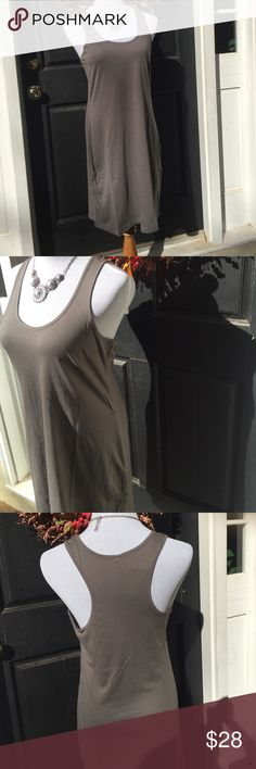 ⚡️sale!    Gray Tank Dress Slip on summer in this lightweight tank dress. 60/40 cotton/ poly Dresses Mini