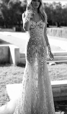 Featured Dress: Idan Cohen; Wedding dress idea.