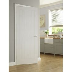 The molded panel doors incorporate FSC accredited materials offering excellent appearance and performance. The range has third party environmental accreditation supplied with chain of custody. Farmhouse Interior Doors, White Interior Doors, Painted Interior Doors, Door Design Interior, Pantry Interior, Internal Doors Modern, White Panel Doors, Masonite Interior Doors, Internal Door Handles