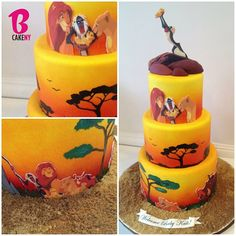 Lion King Baby Shower Cake! - @Miriam Edwards M- I want this as my birthday cake, not a baby shower cake. This is amazing