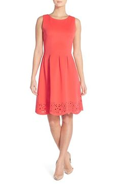Ivanka Trump Pleated Scuba A-Line Dress available at #Nordstrom