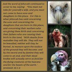 Jeremiah 16:1-4