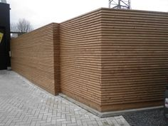 tuinwand in free willy ® thermowood outdoor woodconcept