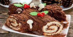 nous Christmas Yule Log, Yule Log Cake, Mini Muffins, Ricotta, Gingerbread Cookies, Biscuits, Caramel, Chocolate, Food