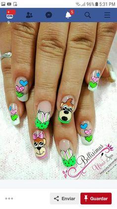 Animal Nail Designs, Nail Art Designs, Toe Nail Art, Toe Nails, Holiday Nails, Nail Arts, Crochet Crafts, Valentines, Nail Design