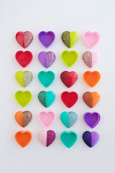 tell love and chocolate: DIY glitter heart candy boxes