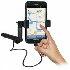 Amzer  Lighter Socket Phone Mount with Charging & Case System For Samsung Galaxy S II Skyrocket SGH-I727
