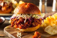 This super-easy pulled jackfruit sandwich recipe relies on flavorful BBQ sauce. Pairing it with coleslaw gives the sandwich a cool crunch.