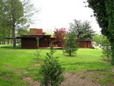 Rosenbaum House. 1940. Addition in 1948.  Usonian Style. Florence, Alabama. Frank Lloyd Wright.