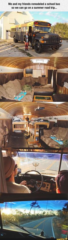 camping, schoolbus, cool, transformation, party, bus, travel
