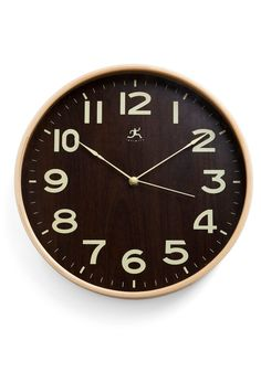 Naturally Punctual Clock from ModCloth #decor #clock #retro