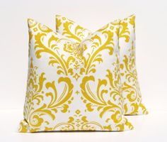 Yellow Pillows.Decorative Yellow Pillows Throw by EastAndNest, $32.00