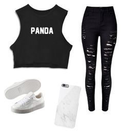 """""""My First Polyvore Outfit"""" by rosalinagan ❤ liked on Polyvore featuring Puma and Native Union"""