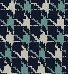Houndstooth fabric design. #vintage