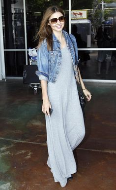 Maxi + Denim Jacket My Spring/Summer uniform