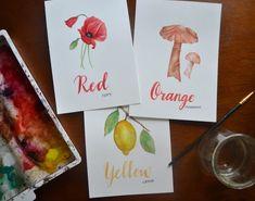 WATERCOLOR   Portfolio Orange Mushroom, Red Poppies, Stuffed Mushrooms, Watercolor, Artwork, Ann, Stuff Mushrooms, Pen And Wash, Watercolor Painting
