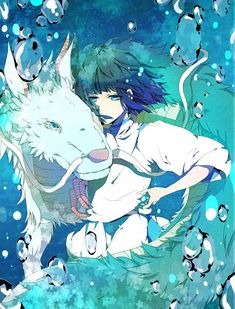 Tags: Spirited Away, Haku, Studio Ghibli, Artist Request