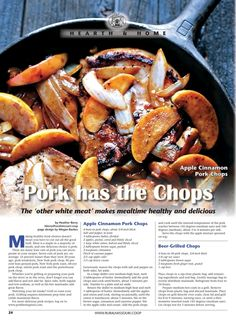 Rural Missouri - October 2014 - Pork has the Chops The 'other white meat' makes mealtime healthy and delicious October 2014, Missouri, White Meat, Pot Roast, Slow Cooker Recipes, Crockpot, Pork, Life, Pork Roulade
