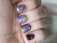 Purple and silver nail art | Anid Harker on Hearty Nails