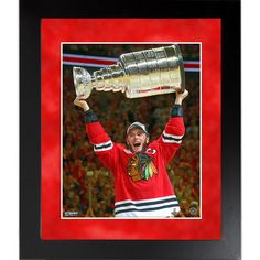Jonathan Toews 2014-15 Stanley Cup Celebration 8x10 Framed Photo - Celebrate the Chicago Blackhawks run to the 2015 Stanley Cup Final with this framed Jonathan Toews 8x10 photo. This is the perfect item to commemorate this tremendous achievement and a great addition to any collection.PLEASE NOTE:PRODUCT SUBJECT TO MINOR CHANGES PENDING LEAGUE APPROVAL. Gifts > Collectibles > Nhl Memorabilia. Weight: 1.00