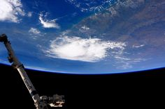 #Houston here's the storm from @space_station before it blew through today. I miss weather. #YearInSpace