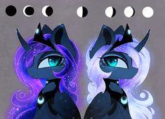 Size: 1842x1337   Tagged: alicorn, alternate hairstyle, alternate universe, artist:magnaluna, female, mare, pony, princess luna, safe, simple background, solo