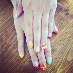 nail, nails, colorful, pink ,blue,yellow,orange,summer