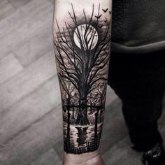 tatuagem-de-arvore-com-lua