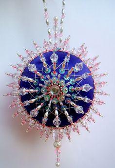 Satin beaded Christmas ornament kit - Purple Aurora. $14.99, via Etsy.