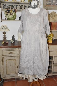 Magnolia Pearl, Silk Embroidered Rhone Dress, lilac water