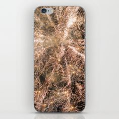 Happy New Year Gold sparkly fireworks iPhone X 8 7 6 Skin by #PLdesign #NewYear #GoldFireworks #style #fashion @society6