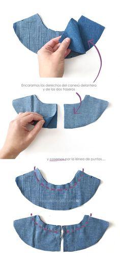 Vestido vaquero de bebé DIY - Tutorial y patrón
