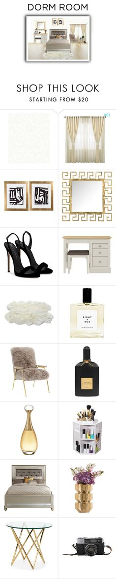 """Dorm room or dream room?"" by elegantpink ❤ liked on Polyvore featuring interior, interiors, interior design, home, home decor, interior decorating, Safavieh, Giuseppe Zanotti, Luxe Collection and Tom Ford"