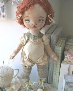 Текстильная малышка ждёт наряд:))