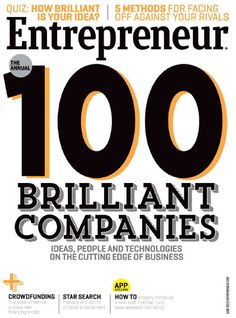 Entrepreneur Magazine, The Annual 100 Brillant Companies - June 2013