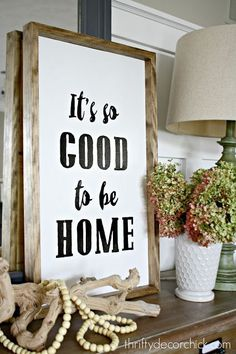 It's so good to be home (DIY art!)