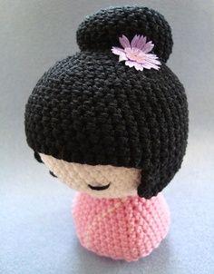 Amigurumi Jewelry Patterns : 1000+ images about KOKESHI DOLLS... on Pinterest Girls ...