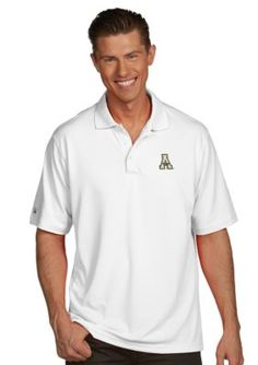Antigua  Appalachian State Mountaineers Mens Pique Xtra Lite Polo
