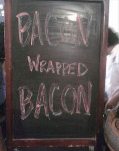 For my side that comes with the bacon wrapped bacon, can I substitute the fries for bacon?   Monday's Funny Pictures – 70 Pics
