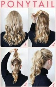 Easy Professional Hairstyles, Ponytail Hairstyles Tutorial, Office Hairstyles, Easy Hairstyles For Medium Hair, Up Hairstyles, Medium Hair Styles, Long Hair Styles, Amazing Hairstyles, Stylish Hairstyles