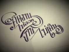Thai lettering