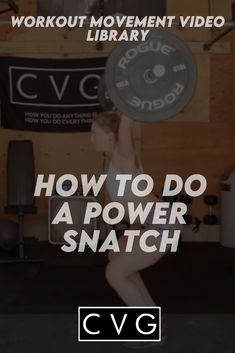 Welcome to our movement library! You are on your way to healthy and strong gains! This video will go over the power position power snatch movement. You Fitness, Fitness Goals, Crossfit Workouts At Home, Video Library, High Intensity Workout, Ways To Burn Fat, Kettlebell, Fat Burning, Positivity