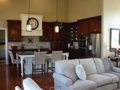 Delta faucet/ashton and cool pendant lights Beige Cabinets, Kitchen Cabinets, Medallion Cabinets, New Kitchen, Kitchen Ideas, Delta Faucets, Queen, First Home, Front Entry